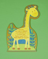 Stand Tall Giraffe Plaque