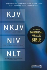 The Complete Evangelical Parallel Bible KJV, NKJV, NIV & NLTse Hardcover - Slightly Imperfect