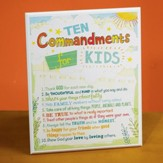 Ten Commandments Kids Plaque