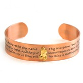 Antique Copper Prayer Bracelet, Lord's Prayer