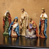 Goldleaf Papercut Design Nativity Set 5 Pieces