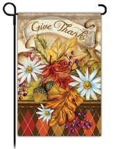 Give Thanks Banner Flag, Small
