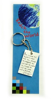 Jeremiah 29:11 Dog Tag Key Chain, Reach the World   Missions