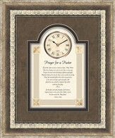 Prayer For A Pastor Framed Art Clock