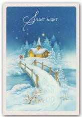 Silent Night, Snow Scene, Christmas Cards, Box of 18