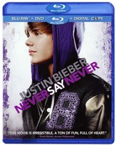 Justin Bieber: Never Say Never, Blu-ray