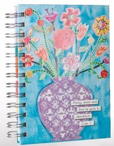 Mercy, Peace and Love, Small Spiral Bound Journal