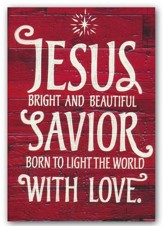 Jesus, Bright and Beautiful, Christmas Cards, Box of 18