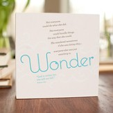 Wonder Plaque, Heart to Heart Collection