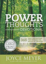 Power Thoughts Devotional: 365 Daily Inspirations for Winning the Battle of the Mind, Large Print