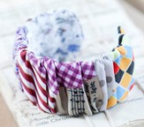 Redeemed Fabric Cuff Bracelet