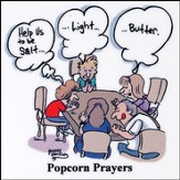 Popcorn Prayers Magnet