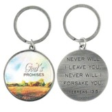 God's Promises, Metal Keychain, Hebrews 13:5