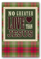 No Greater Love Than Jesus, Christmas Cards, Box of 18