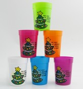 Light of Jesus Plastic Cup, Assorted Colors, 1 Dozen