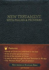 God's Precious Promises New Testament: New American Standard Bible Bonded Leather Black