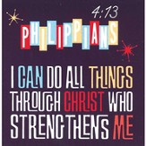 I Can Do All Things, Magnet, Philippians 4:13