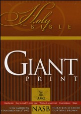 NASB 1977 Giant Print Handy-Size Reference Bible, Duraflex  Leather, Duaotone Brown