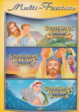 Greatest Heroes & Legends: Last Supper, Miracle of   Jesus, Story of Moses DVD