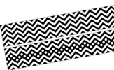 Chevron Bold Black Double-Sided Border
