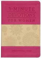 3-Minute Devotions for Women: Daily Devotional Journal