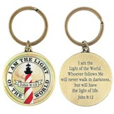 I Am The Light, Metal Keychain, John 8:12