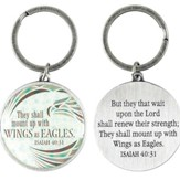 Wings As Eagles, Metal Keychain, Isaiah 40:31
