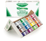 Crayola, Washable Broad Line Markers, Classroom Set  16 Colors 256 Pieces