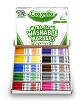 Crayola, Washable Fine Line Markers, 10 Colors, 200 Pieces