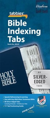Bible Tabbies Silver Regular Size