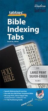 Bible Tabbies, Silver, Large