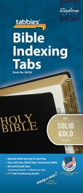 Regular Size, Solid Gold Color Tabs,  50th Anniversary Edition