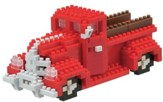 Nanoblock Advanced Hobby, Pick Up Truck, Red