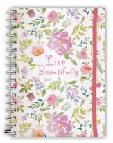 2017 Floral, Live Beautifully Monthly/Weekly Planner
