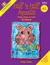 Half 'n Half Animals A1--Grades K to 1