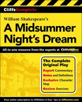 CliffsComplete A Midsummer Night's Dream