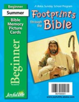 Footprints through the Bible Beginner (ages 4 & 5) Mini Bible Memory Picture Cards