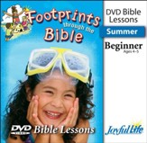 Footprints through the Bible Beginner (ages 4 & 5) Bible Lesson DVD