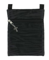 Crossbody Purse, with Cross Charm, Black