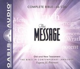 The Message: The Bible in Contemporary Language - Unabridged Audiobook on 66 CDs in a Boxed Set