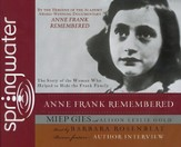 Anne Frank Remembered Audiobook on CD
