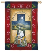 Christmas Cross Flag, Large