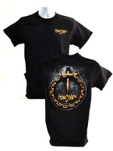 Forgiven (Nails & Chain) T-Shirt, Black, Small (36-38)