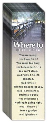 Where to Look, Topics Bookmarks, 25