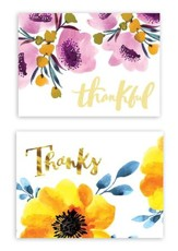 Thankful, Thank You Note Cards, Pack of 50