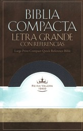 RVR 1960 Biblia Compacta Letra Grande con Referencias Imitation Leather Sapphire blue