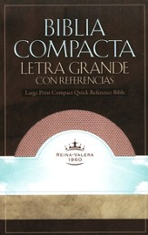RVR 1960 Biblia Compacta Letra Grande con Referencias Imitation Leather Blush - Slightly Imperfect