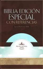 Biblia RVR 1960 Ed. Especial Ref., Piel Sim. Cafe/Verde Mar  (RVR 1960 Special Ref. Bible, Brown/Mint Green Sim. Leather)