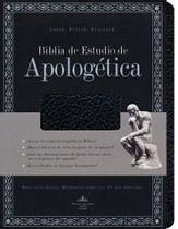 Biblia de Estudio Apologetica RVR 1960, Piel Imit. Negra Ind.  (RVR 1960 Apologetics Study Bible, Imit. Leather Black Ind.)