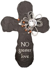 No Greater Love Slate Wall Cross